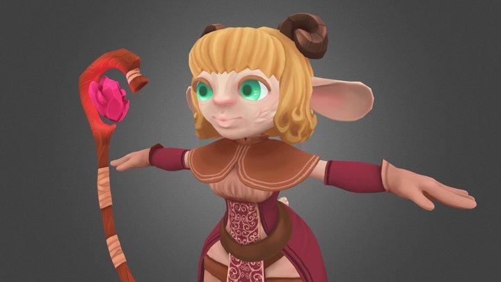 Character N Staff 3D Model