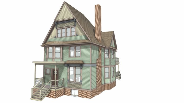 256 Horton St. Detroit, MI 48202 3D Model