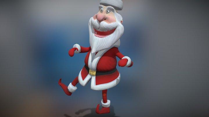 3DRT - Crazy Santa dancing 3D Model