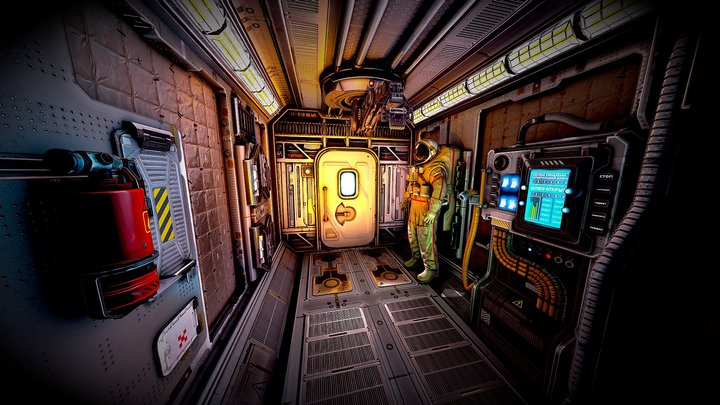 Space ship sluice 3D Model