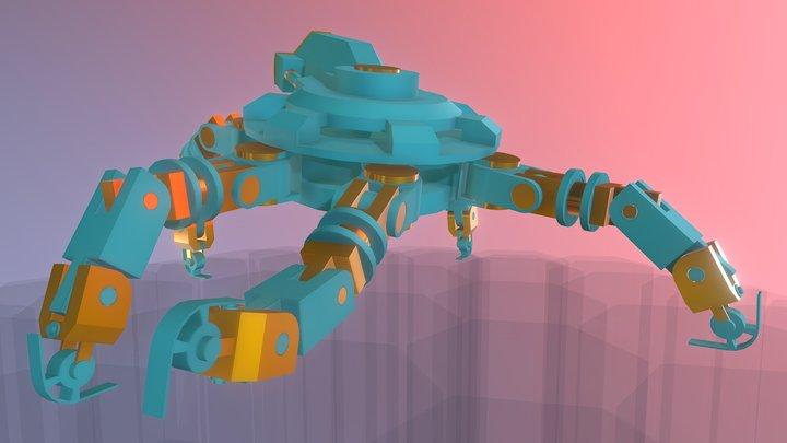 Spider Hand Mech 3D Model