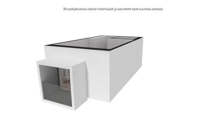 Keinulaudantie 2b, Helsinki 1H+KT - 30 m² 3D Model