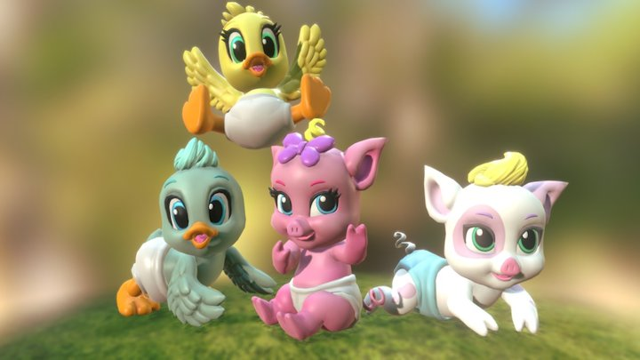 Nappy Farm - Character for TVC 3D Model