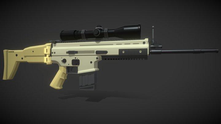FN Scar H 3D Model