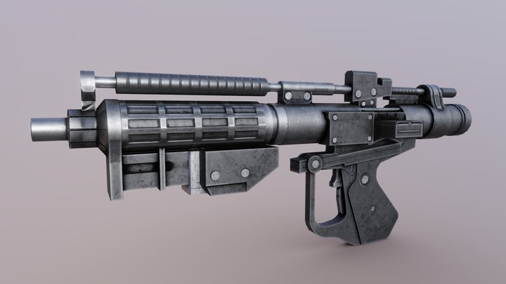 E-5 Blaster Rifle 3D Model