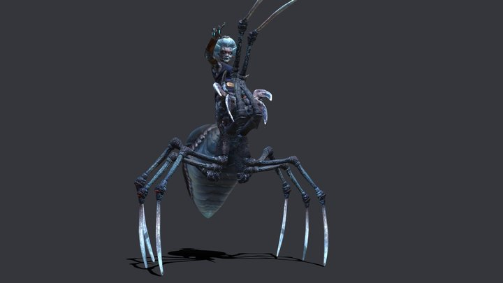 Arachne Animated - MythCreature Round 3 3D Model
