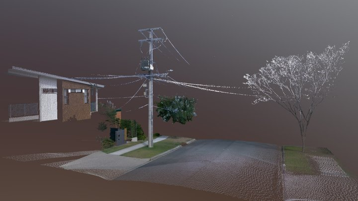 Electric Pole scanned with the BLK360 3D Model