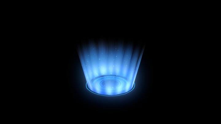 Portal Glow HUD Element 7 3D Model
