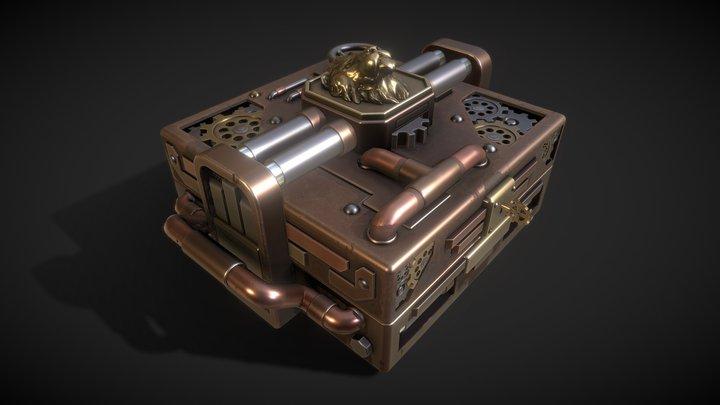 Steampunk chest 3D Model