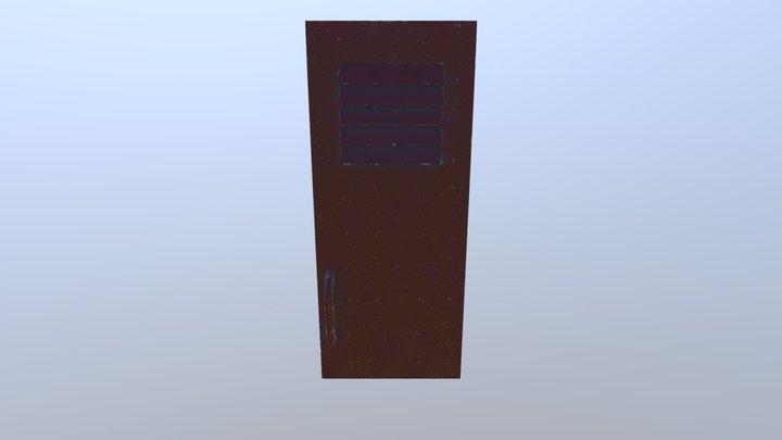 School locker door 3D Model