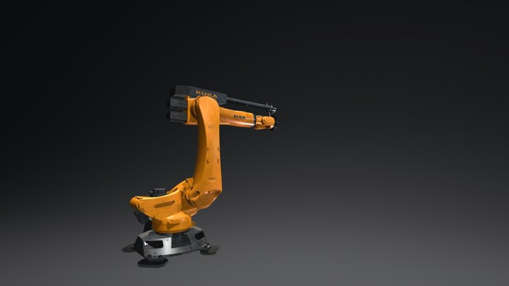 Robot Arm Animated 2 3D Model