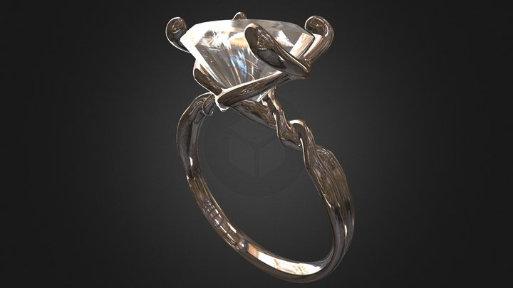 My fiance's engagement ring 3D Model