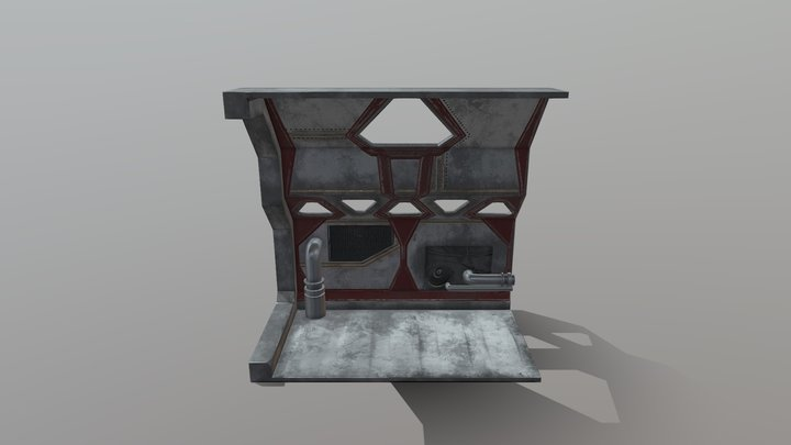 Sci fi Panel (normal map assignment) 3D Model