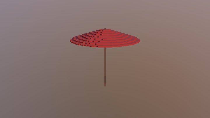 Voxel Umbrella 3D Model