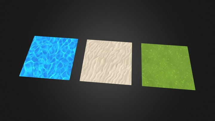 Handpainted casual textures pack 3D Model