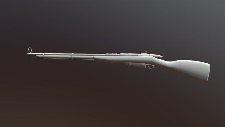 Mosin Rifle 3D Model