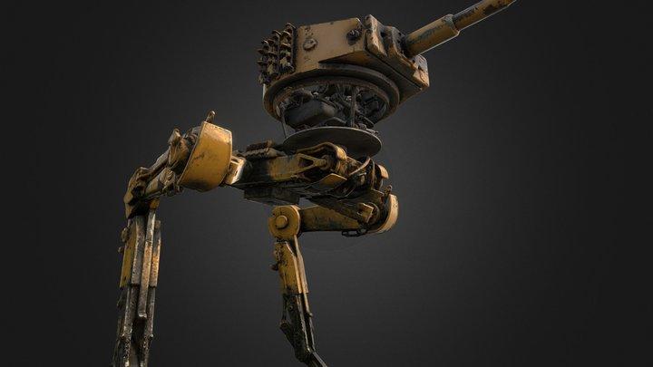 biped walking tank02 (PBR texture) 3D Model