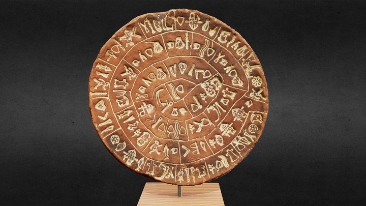 Phaistos Disc - 2nd millennium BC 3D Model