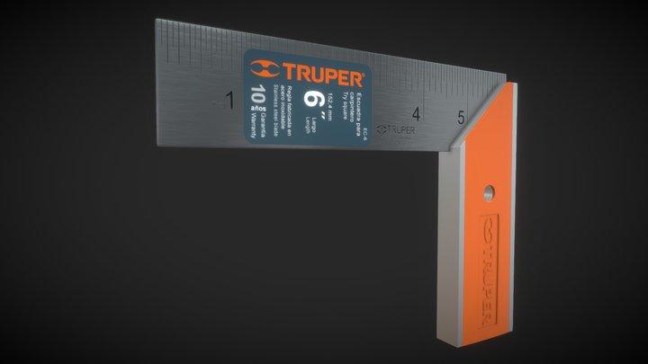 TRUPER - Try square 6'' 3D Model