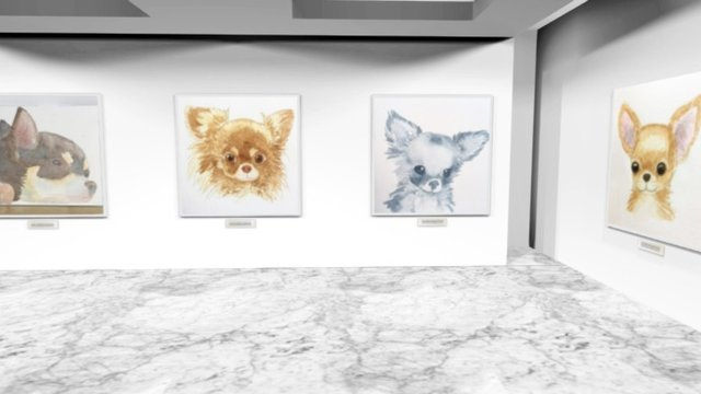 Instamuseum for @chihuahua_painter 3D Model