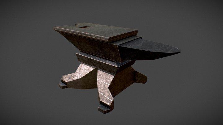 Medieval Anvil 3D Model