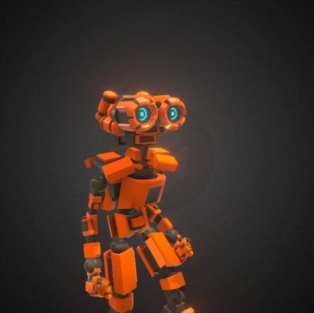 Animated humanoid robot 3D Model