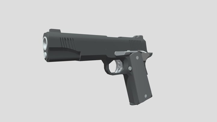 Kimber 1911 Low Poly Game Ready 3D Model