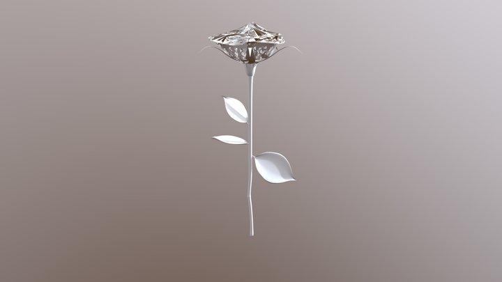 Rose Glitched 3D Model