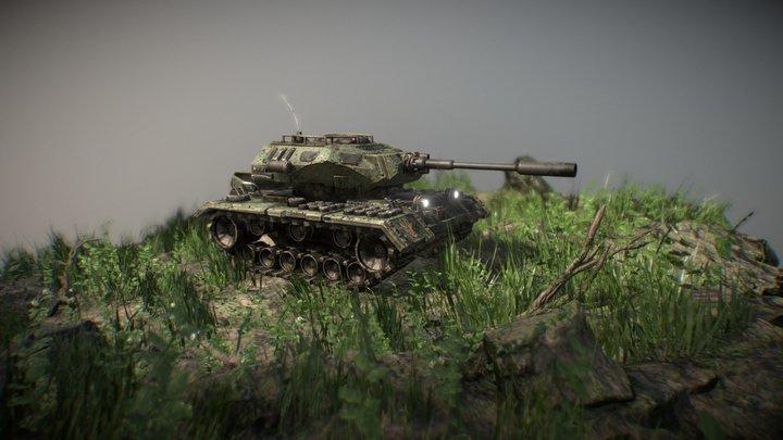 VR sculpted tank 3D Model
