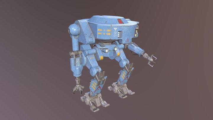 Maintenance Robot 3D Model