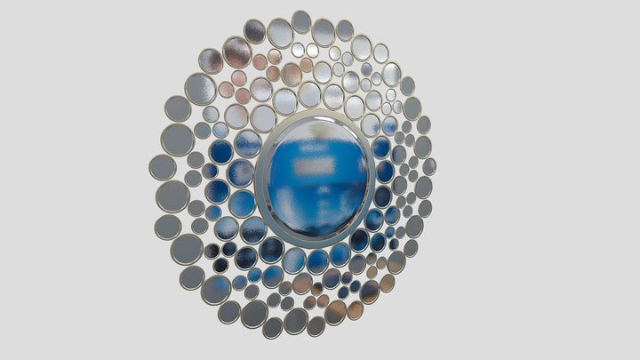 Kentwood Round Wall Mirror 3D Model