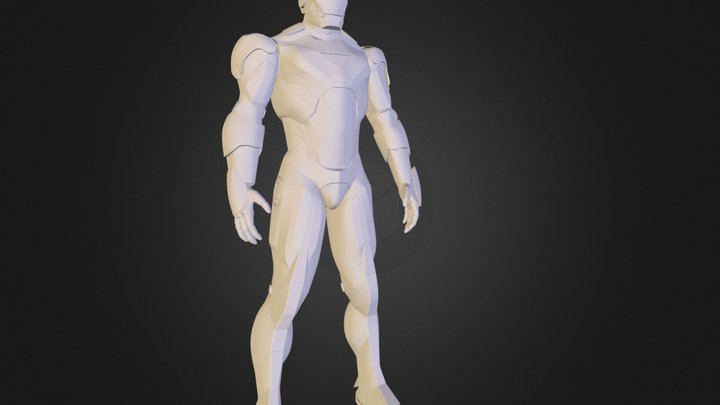 IronMan Mark VI -wireframe 3D Model