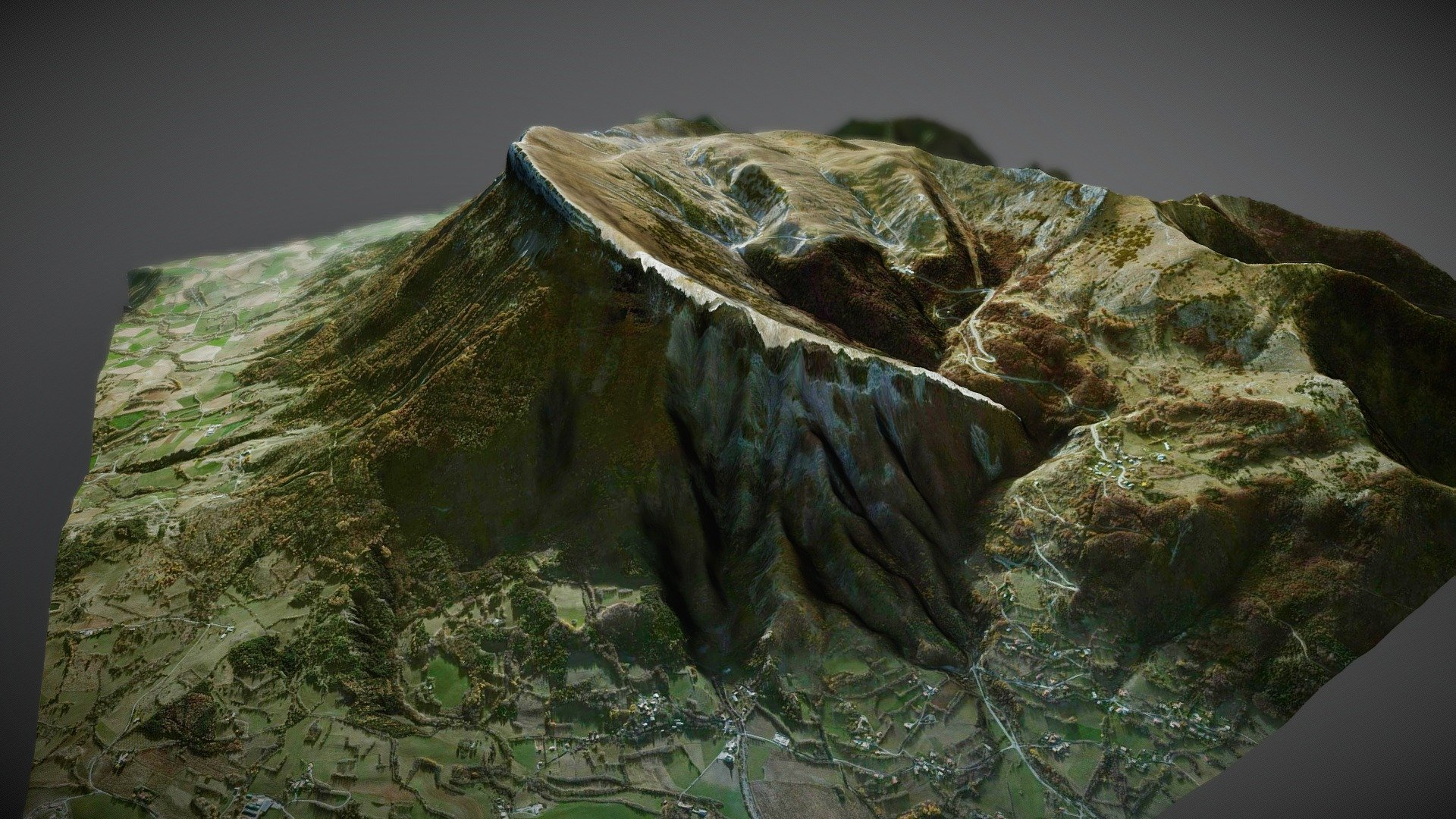 Le Ceuze, France - Download Free 3D model by Xavier ...