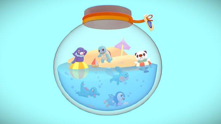 Water-Type Pokemon Terrarium 3D Model