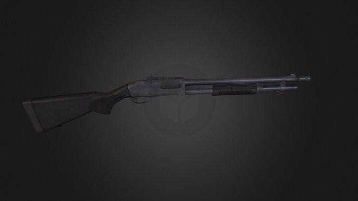 Remington 870 Express Tactical 3D Model