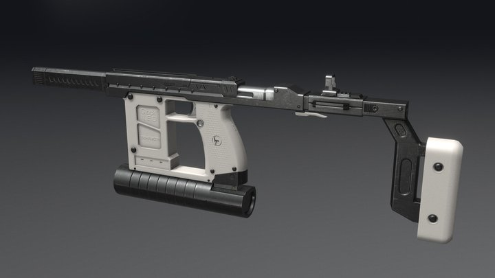 Glock Behemoth SMG 3D Model