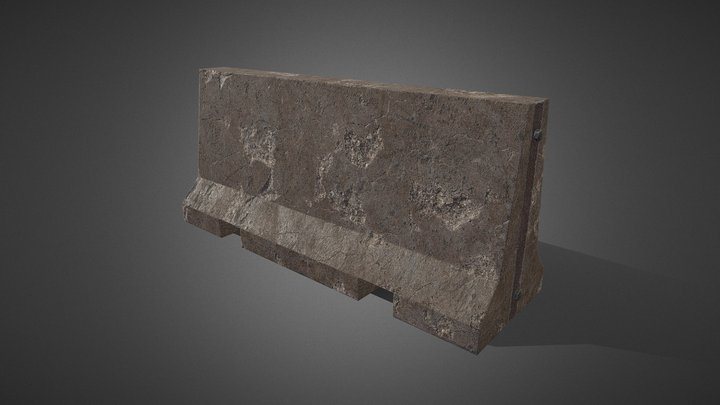 Low Poly Barricade Game Ready II 3D Model