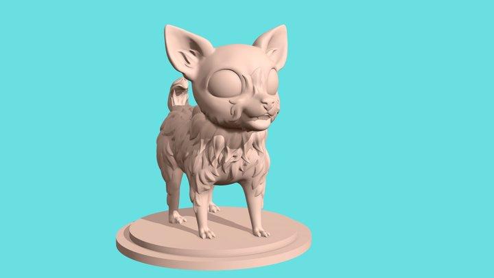 Cute little dog for 3d printing 3D Model