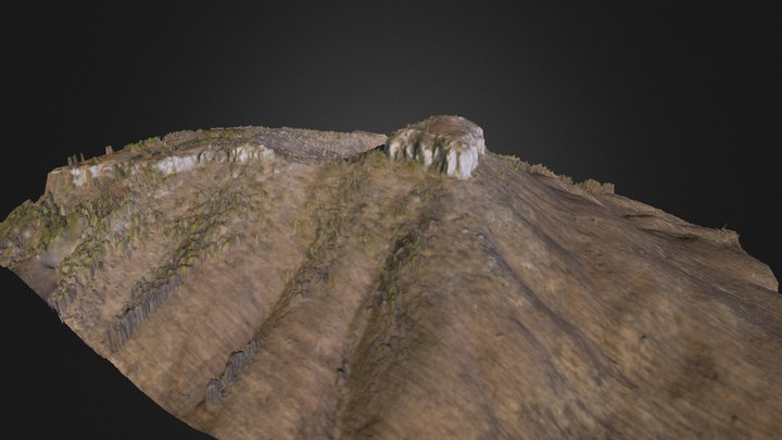 Pilot Mountain 3D Model