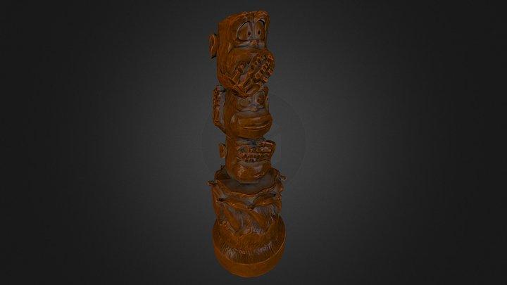#3DSM5 - Three Wise Monkeys Totem 3D Model