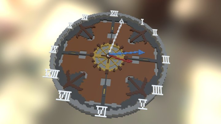 Clock #magicavoxel 3D Model