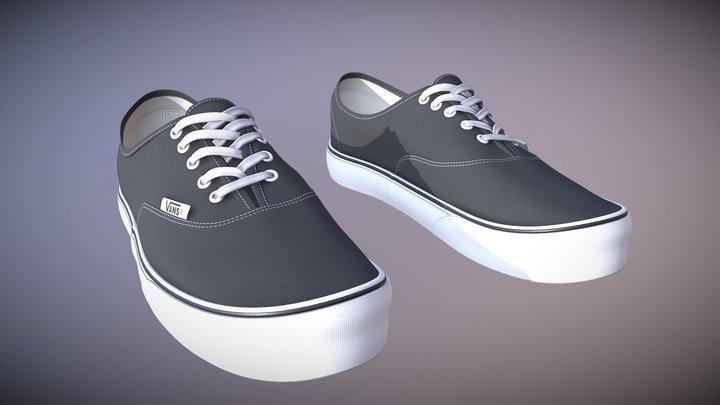 Vans Black N White 3D Model