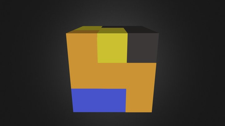 Puzzle Cube Assembly 3D Model