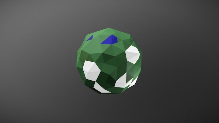 Low Poly Planet 3D Model