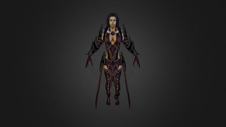 Hel Dark Stance 3D Model