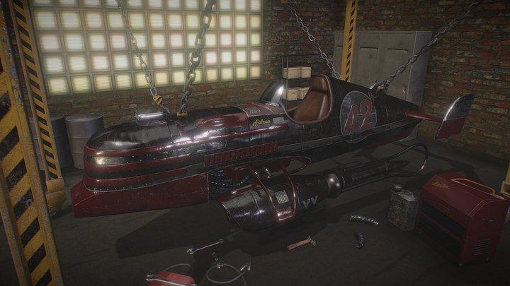 Racing Vanship 3D Model