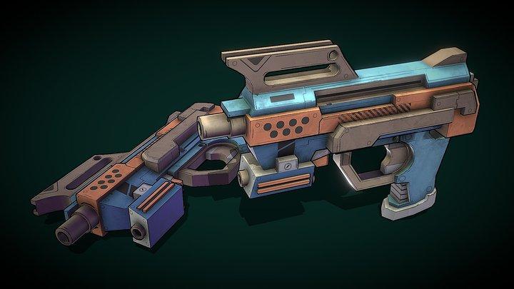 Stylized Pistol - Project PVP 3D Model