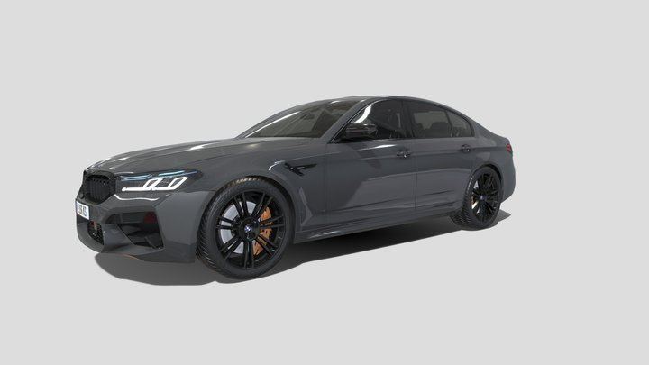 BMW M5 2021 3D Model