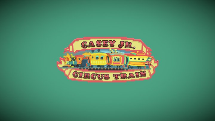 Casey Jr Circus Train Disney Sign Files Included 3D Model