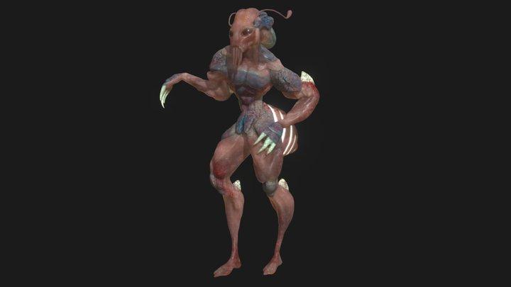 Franck the Alien 3D Model